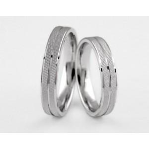 Серебряное обручальное кольцо 1-296 silver