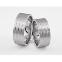 Серебряное обручальное кольцо 1-304 silver