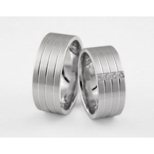 Серебряное обручальное кольцо 1-304 silver фото