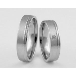 Серебряное обручальное кольцо 1-33 silver