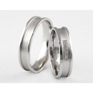 Серебряное обручальное кольцо 1-37 silver