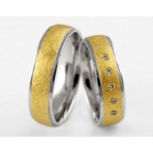 Золотое обручальное кольцо 1-4 euro