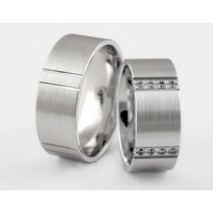 Серебряное обручальное кольцо 1-46 silver