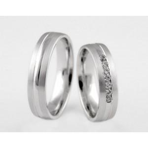 Серебряное обручальное кольцо 1-52 silver