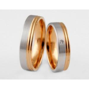 Золотое обручальное кольцо 1-8 euro