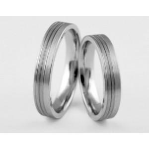 Серебряное обручальное кольцо 1-81 silver