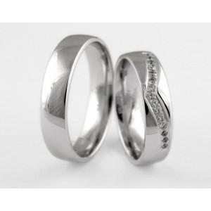 Серебряное обручальное кольцо 1-88 silver