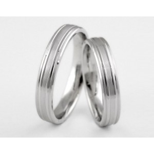 Серебряное обручальное кольцо 1-94 silver