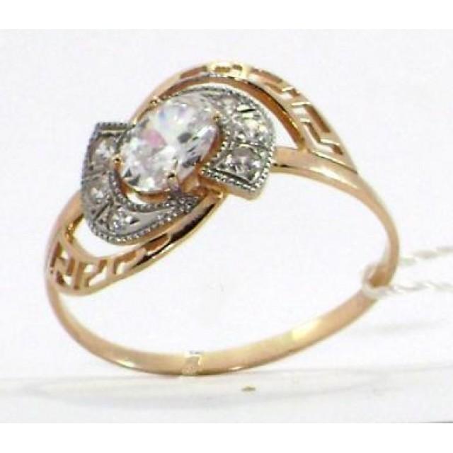 Золотое кольцо с цирконами 1/644