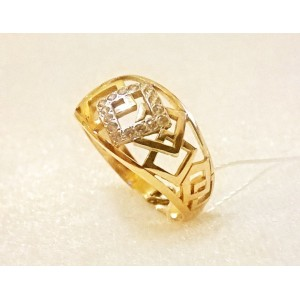 Золотое кольцо с цирконами 1-790