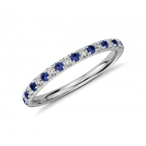 Золотое кольцо с бриллиантами и сапфирами 1-10