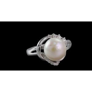 Серебряное кольцо с жемчугом 1757/9р Бьянка
