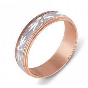 Золотое обручальное кольцо 1033 модель Антистресс