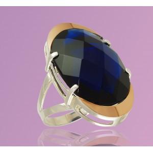 Серебряное кольцо с цирконием Опера 2