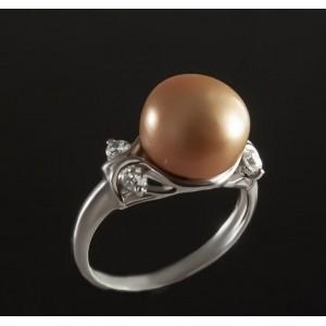 Серебряное кольцо с жемчугом 1763/9р Соня