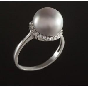 Серебряное кольцо с жемчугом 1767/9р Гинея малая