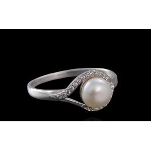Серебряное кольцо с жемчугом 1770/9р Мия