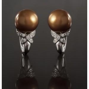 Серебряные серьги с жемчугом 2260/9р Свежесть фото