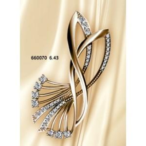 Золотая брошь 660070