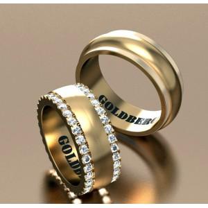 Золотое обручальное кольцо Goldberg 10-64