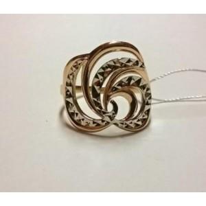 Золотое обручальное кольцо с алмазной гранью 10220 винман