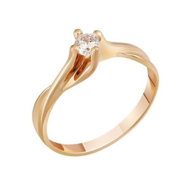 Золотое кольцо для помолвки 1100501sv