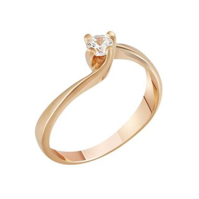 Золотое кольцо для помолвки 1100511sv