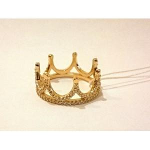 Золотое обручальное кольцо корона 1101274101