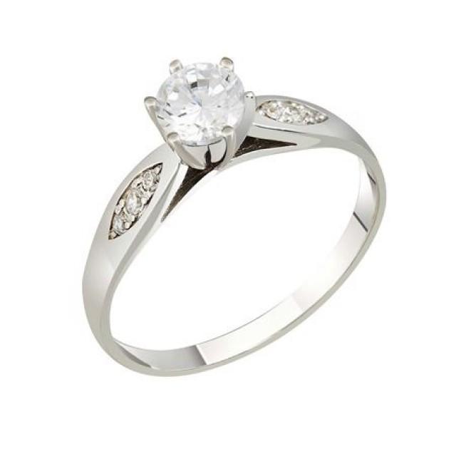 Золотое кольцо для помолвки 1106112sv