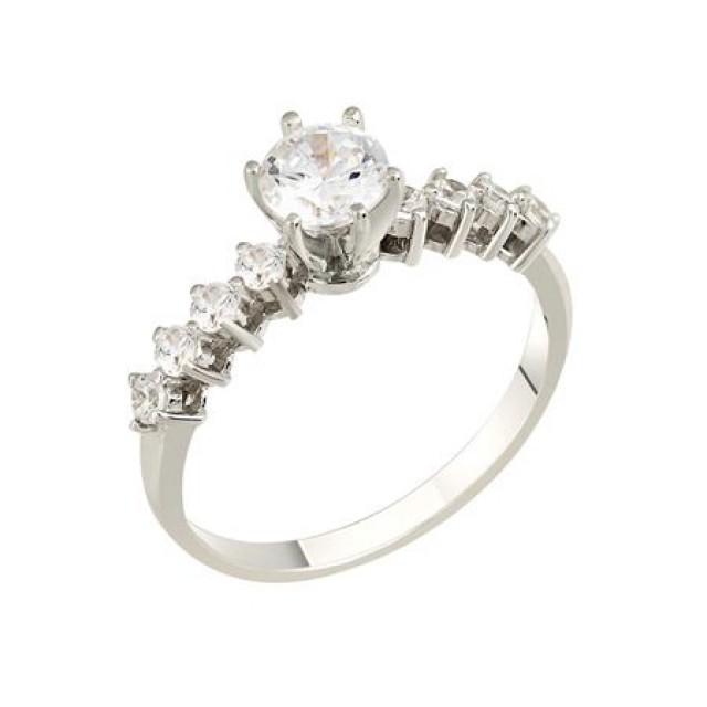 Золотое кольцо для помолвки 1108092sv