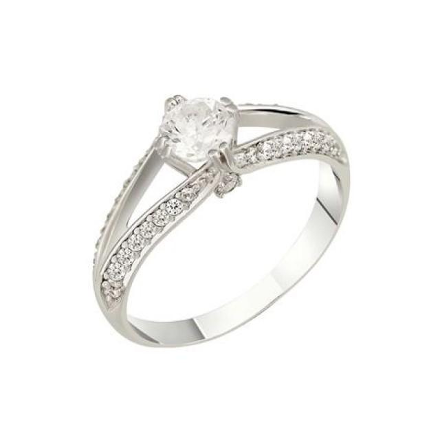 Золотое кольцо для помолвки 1108232sv фото