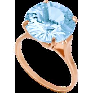 Золотое кольцо с топазом 112-005