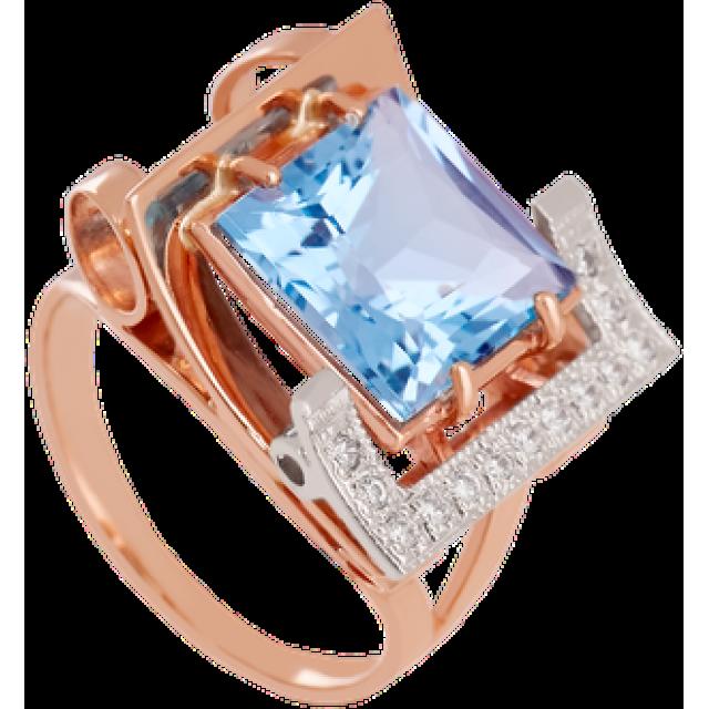 Золотое кольцо с топазом 112-1137