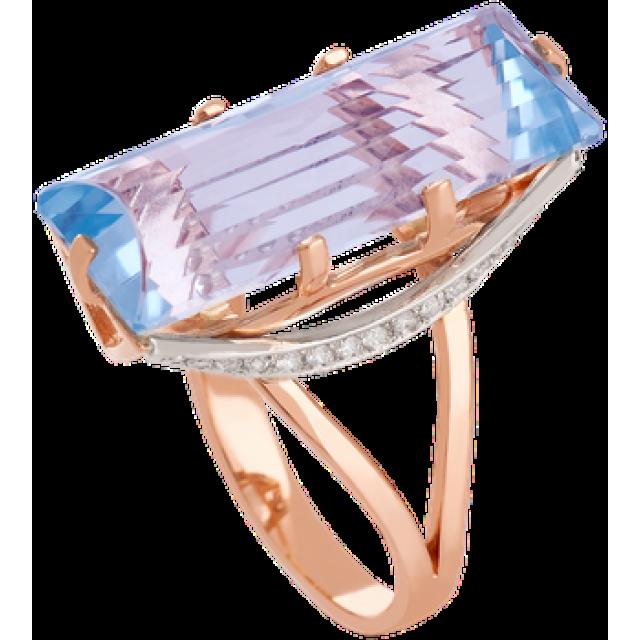 Золотое кольцо с топазом 112-1266