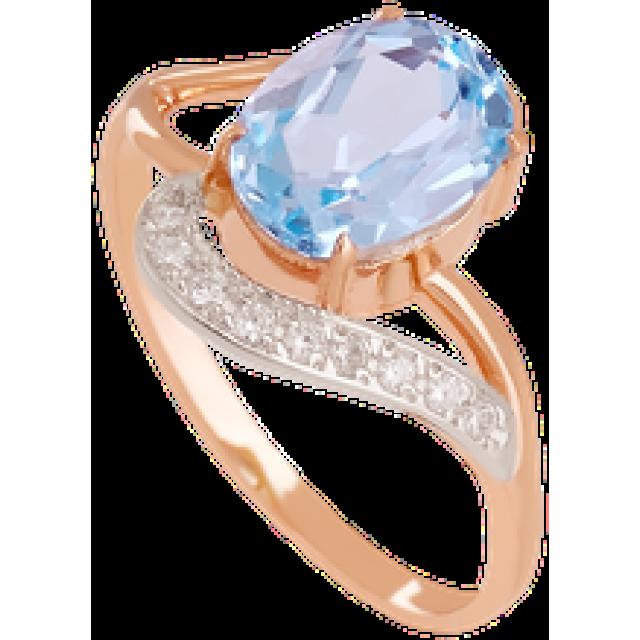 Золотое кольцо с топазом 112-1320
