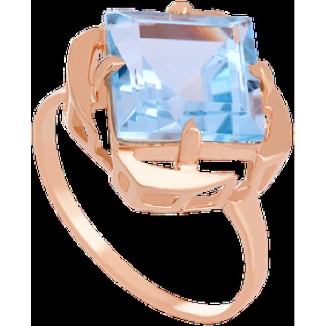 Золотое кольцо с топазом 112-1322