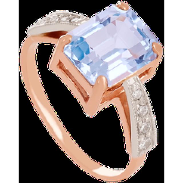 Золотое кольцо с топазом 112-1339
