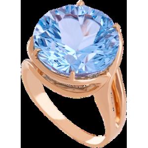 Золотое кольцо с топазом 112-1341