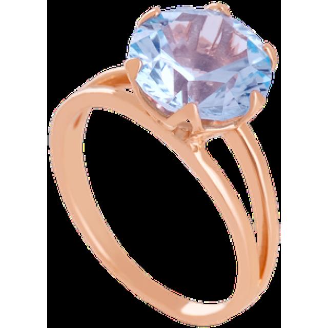 Золотое кольцо с топазом 112-1348