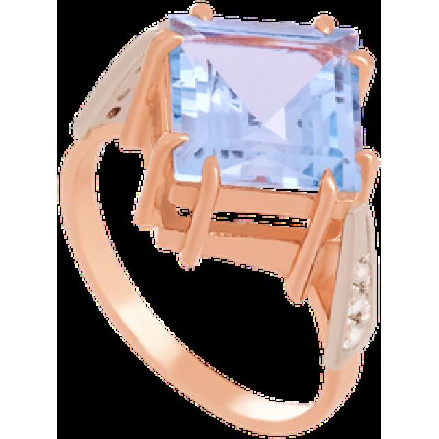 Золотое кольцо с топазом 112-1377