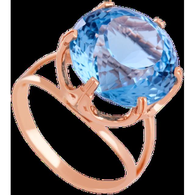 Золотое кольцо с топазом 112-1379