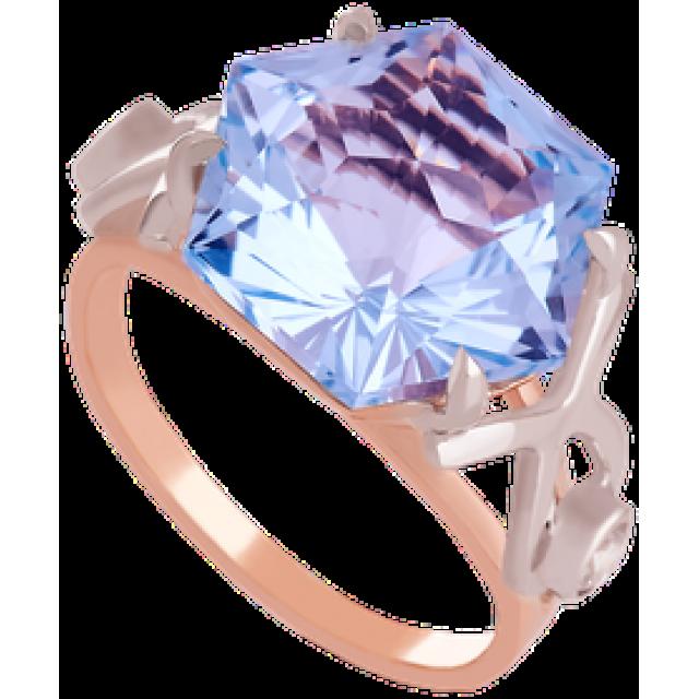 Золотое кольцо с топазом 112-1396
