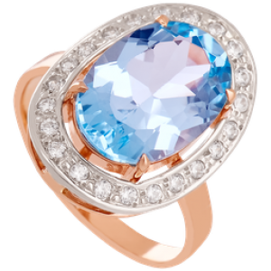 Золотое кольцо с топазом 112-1442
