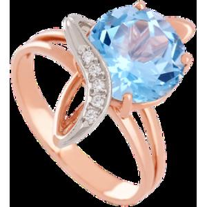Золотое кольцо с топазом 112-1452