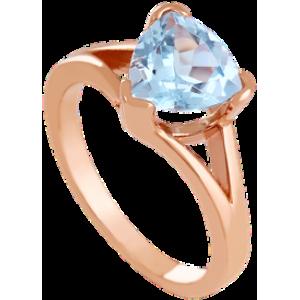 Золотое кольцо с топазом 112-1574