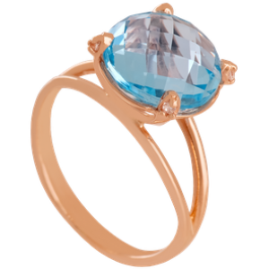 Золотое кольцо с топазом 112-1622