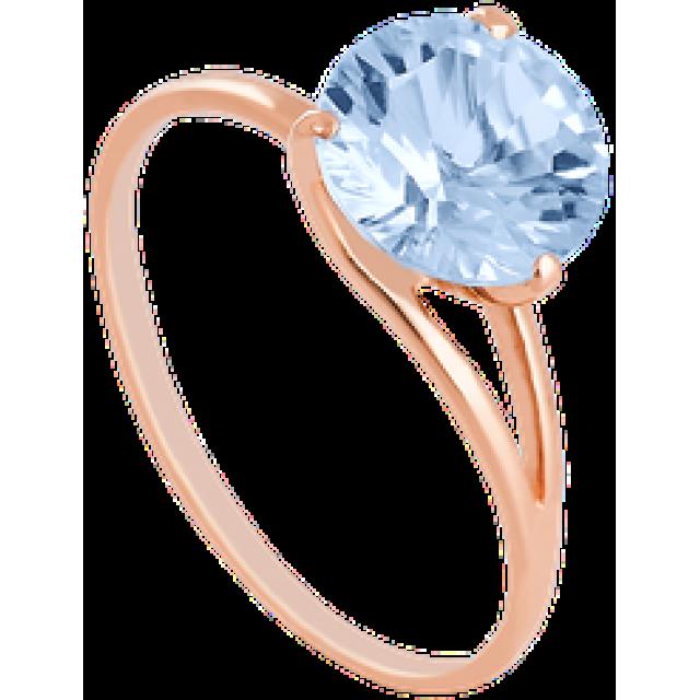 Золотое кольцо с топазом 112-202