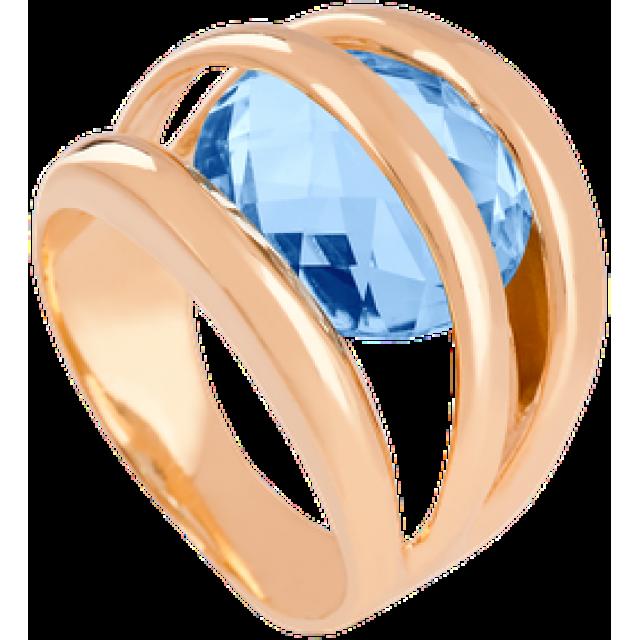 Золотое кольцо с топазом 112-256