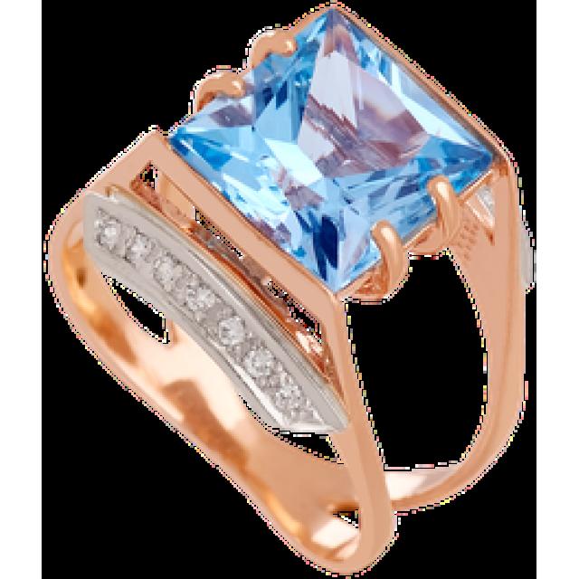 Золотое кольцо с топазом 112-525