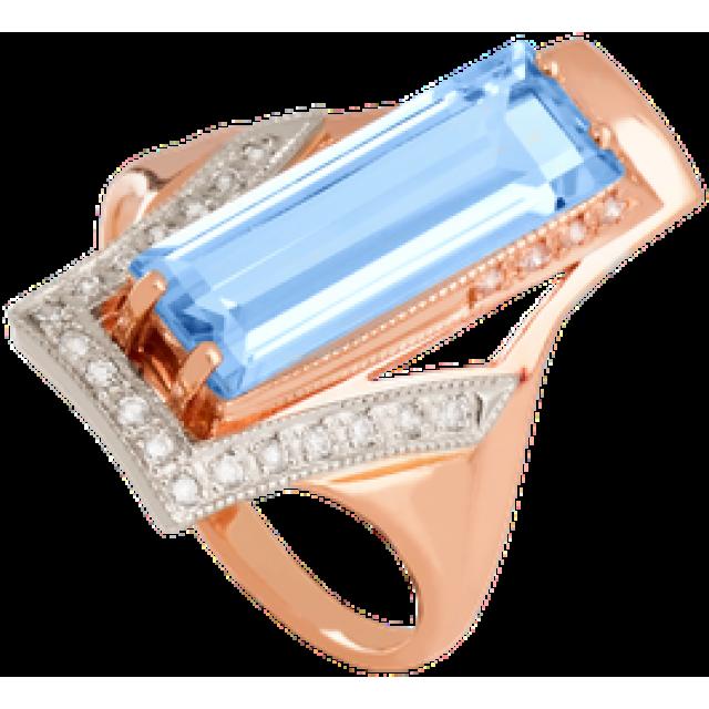 Золотое кольцо с топазом 112-526